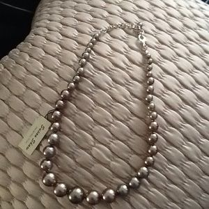 Taupe Pearl Necklace